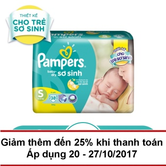 Tã dán Pampers Baby Dry size S 38 miếng