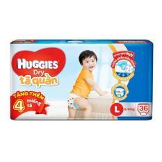 Tã quần Huggies Dry Pants Jumbo L36 (9 - 14kg) + Tặng 4 miếng /gói