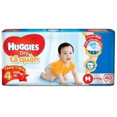 Tã quần Huggies Dry Pants Jumbo M40 (6 – 11kg) + Tặng 4 miếng /gói