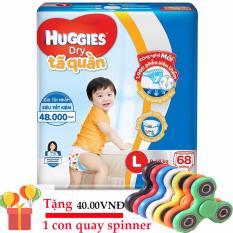Tã quần Huggies Dry Pants L68 miếng (Cho trẻ từ 9-14kg)