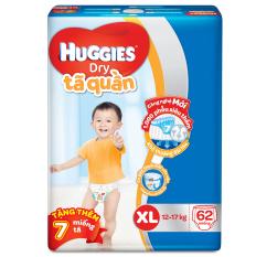 Tã quần Huggies Dry Pants XL62 (11 - 16kg) + Tặng 7 miếng /gói