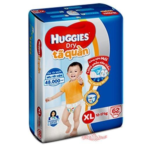 TÃ QUẦN HUGGIES XL62 MIẾNG