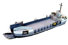 Tàu chiến mô hình lắp ráp – 1/125 LCT Ship (Landing Craft Tank) – LINDBERG/HAWK