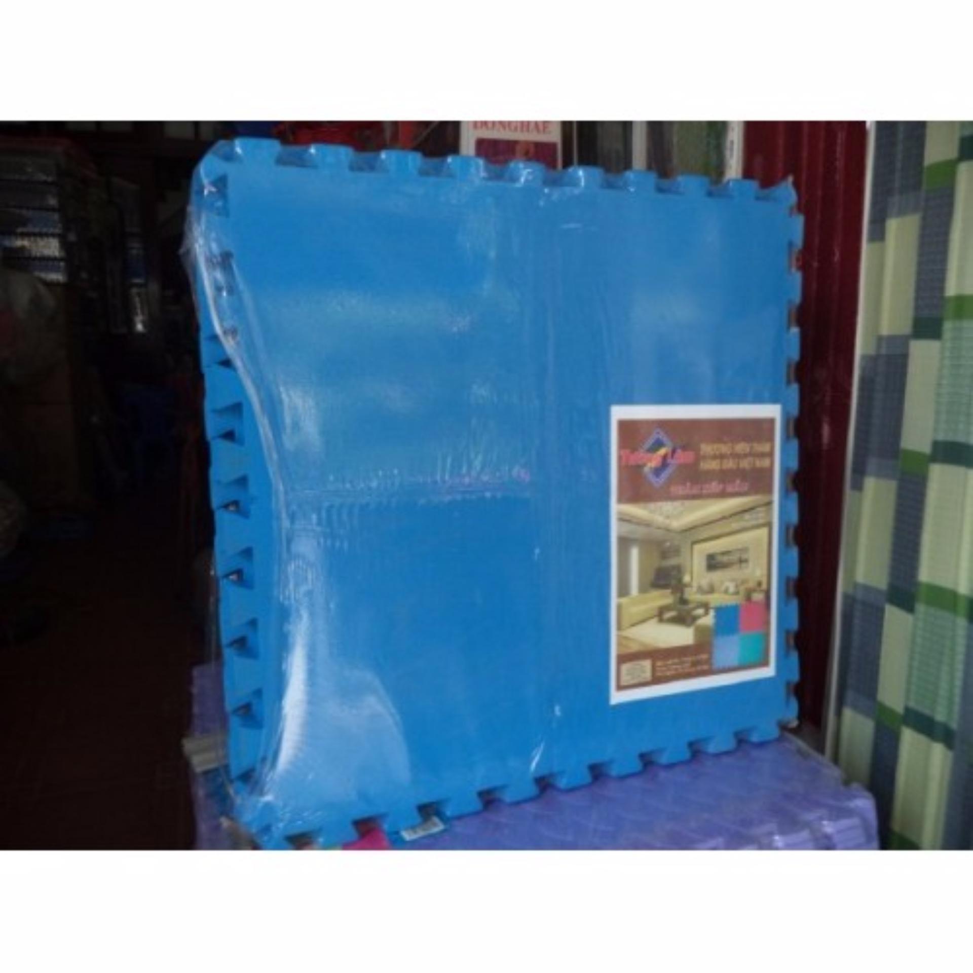 Thảm xốp ghép 1 màu ÂU LẠC cao cấp 4 miếng 60 x 60 cm( xanh)