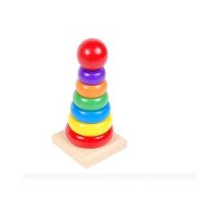 Tháp cầu vồng nhỏ – Đồ chơi gỗ thông minh cho bé