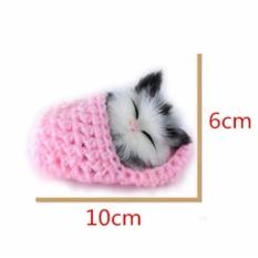 Thú bông chú mèo mini phát tiếng kêu (Phiên bản ngủ)