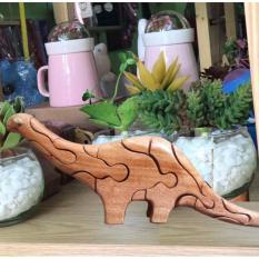 Thú gỗ lắp ghép 3D hình chú khủng long TGL11