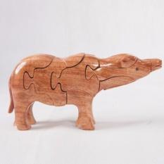 Thú gỗ lắp ghép 3D hình chú trâu TGT08