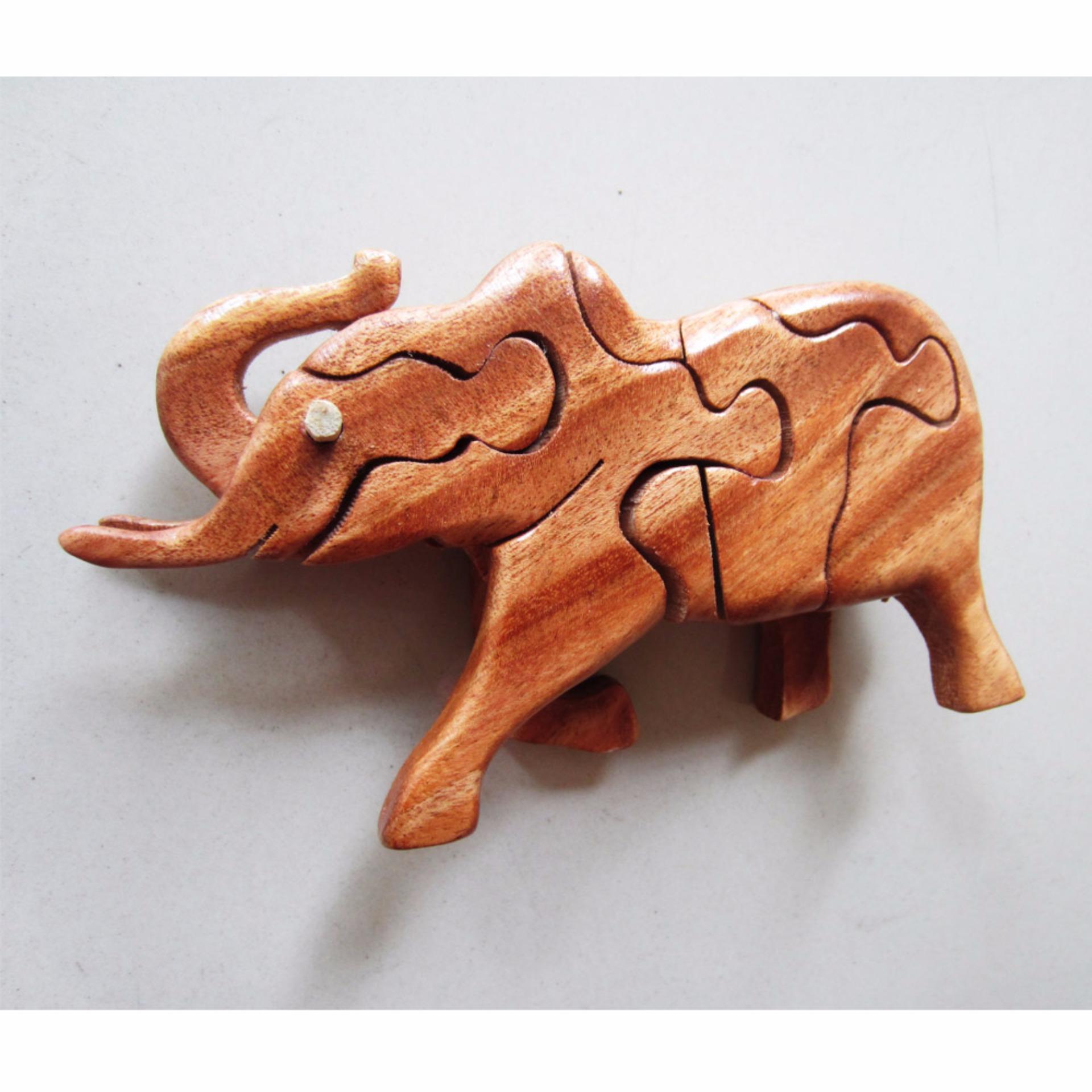 Thú gỗ lắp ghép 3D hình voi ma mút TGV13