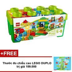 Thùng gạch Lego Duplo vui nhộn 10572 + Tặng thước đo chiều cao trị giá 159.000VNĐ