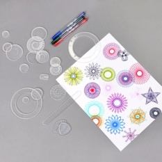 Thước vẽ sáng tạo – Bộ vẽ họa tiết Spirograph (Trắng)