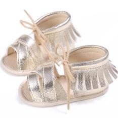 Tập đi cho Bé Trai Bé Gái Đế Mềm Giày Sandal Thời Trang Prewalker (Vàng) (Vàng) – 12- 18 Tháng- quốc tế