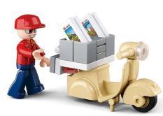 TOWN – Bộ lắp ráp nhân viên chuyển phát nhanh SLUBAN (28PCS)