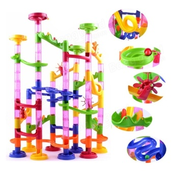 Toys Games Marble Runs Marble Run Race Children Building Construction Blocks Creative Game - intl
