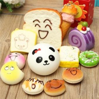 ... Toys Games Play Food Random 30Pcs Jumbo Medium Mini Soft Squishy Cake/ Panda/Bread ...