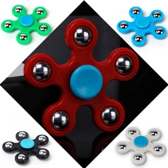 Tri Fidget Steel Ball Hand Finger Spinner Stress Relief Toy forAdults - intl