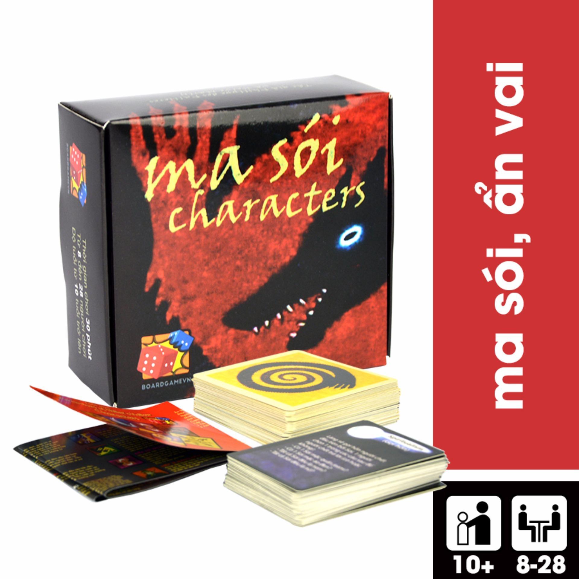 Vì sao mua Trò chơi Ma Sói Characters Việt Hoá
