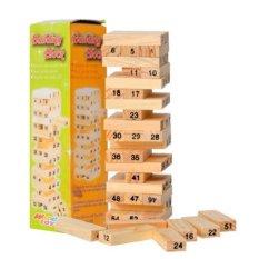 Trò chơi rút gỗ 54 thanh KoreaStore (Nâu gỗ)