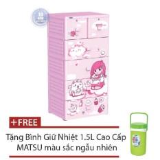 Chỗ bán Tủ nhựa Duy Tân MINA 5 tầng tặng kèm bình giữ nhiệt MATSU cao cấp 1,5L màu ngẫu nhiên