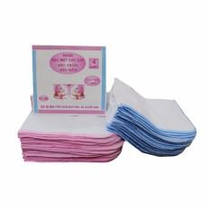 Túi 10 khăn sữa KiBa 4 lớp 100% cotton (Kích thước 26 x 32 cm)