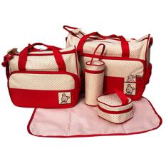 Túi đựng đồ cho mẹ và bé 5 chi tiết (Đỏ)