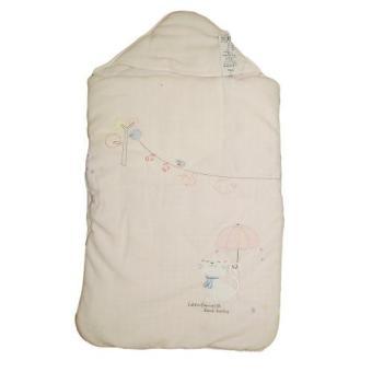 Túi ngủ kéo khóa kiêm chăn ủ có mũ LE8013 (Vàng chanh)