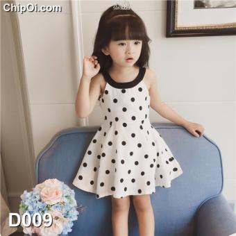 OE680TBAA5OJ44VNAMZ-10418872 - Váy đầm công chúa hở vai in họa tiết chấm bi cho bé gái giá rẻ