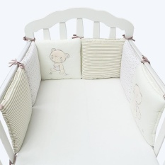 vishine mall- Comfortable Baby Bedding Supplies 6Pcs/Set Baby Crib Bed Bumper Cushion Fence Cover Cotton Baby Protector Safety – intl