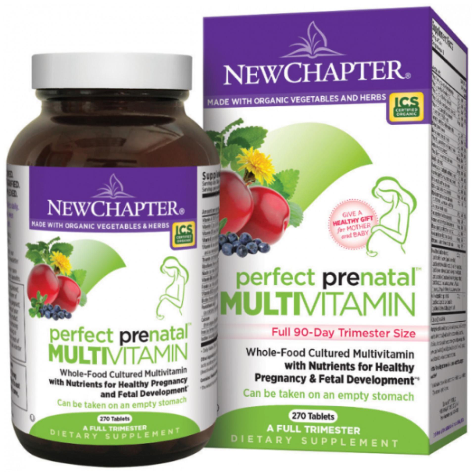 Vitamin Tổng Hợp Cho Bà Bầu New Chapter Perfect Prenatal MultiVitamin 270 viên