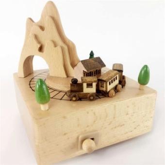 Wood Delicate Music Box Wedding Kid Gifts-Roller Coaster - intl