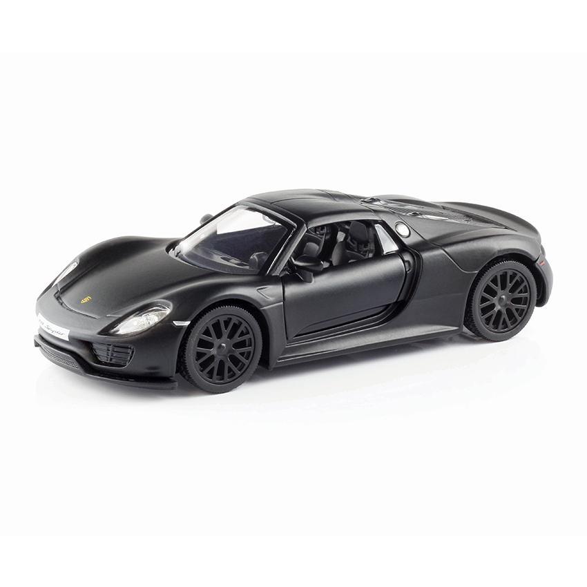 Xe chạy trớn Porsche 918 Spyder (đen mờ) RMZ-554030M