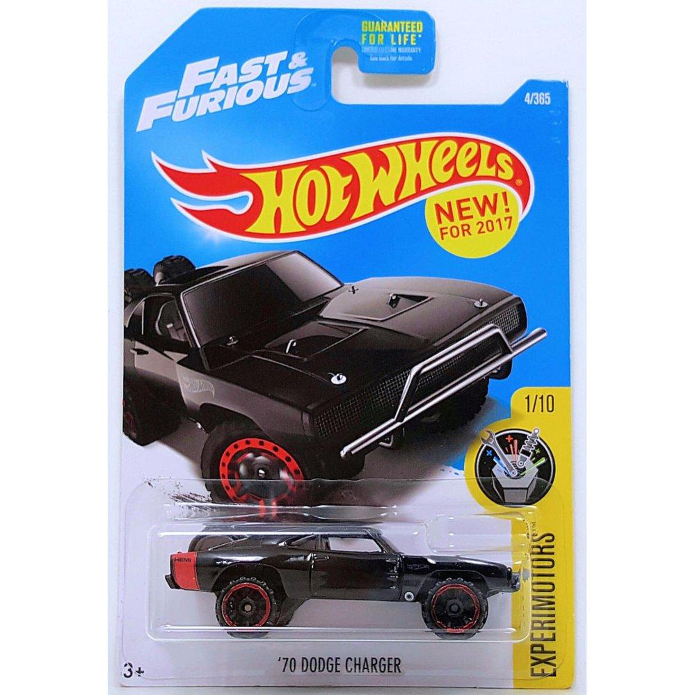 Xe mô hình tỉ lệ 1:64 Hot Wheels 2016 Fast & Furious '70 Dodge Charger - Đen
