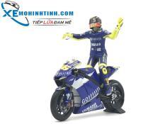 Xe Mô Hình Yamaha Yzr M1 Valentino Rossi Motogp Donington 2007 1:12 Minichamps (Xanh)