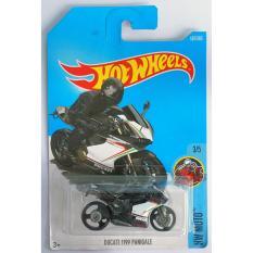 Xe mô tô mô hình tỉ lệ 1:64 Hot Wheels 2017 Ducati 1199 Panigale 187/365 ( Màu Đen )