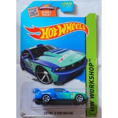 Xe ô tô mô hình tỉ lệ 1:64 Hot Wheels Custom '12 Ford Mustang – Team Falken 240/250 (Xanh)