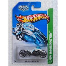 Xe ô tô mô hình tỉ lệ 1:64 Hot Wheels Max Steel Motorcycle Hw Imagination 59/250 (Trắng)