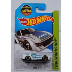 Xe ô tô mô hình tỉ lệ 1:64 Hot Wheels Mazda RX-7 193/250 (Trắng)