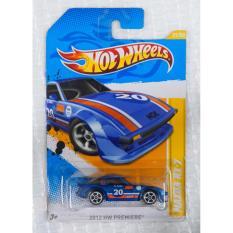 Xe ô tô mô hình tỉ lệ 1:64 Hot Wheels Mazda RX-7 2012 Hw Premiere 31/50 (Xanh)