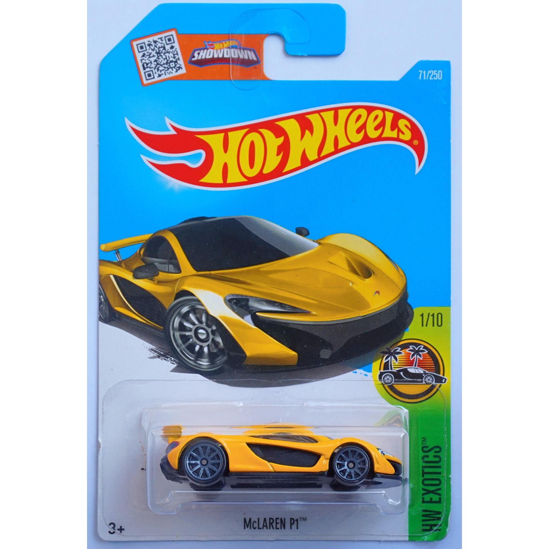 Xe ô tô mô hình tỉ lệ 1:64 Hot Wheels McLaren P1 Hw Exotics 71/250 ( Vàng )