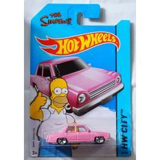 Xe ô tô mô hình tỉ lệ 1:64 Hot Wheels The Simpsons 56/250 (Hồng)