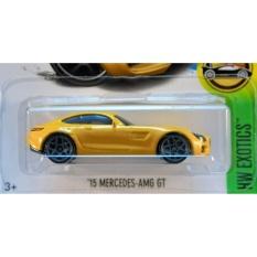 Xe ô tô mô hình tỉ lệ 1:64 Hot Wheels 2017 '15 Mercedes-AMG GT ( Màu Vàng )