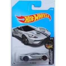 Xe ô tô mô hình tỉ lệ 1:64 Hot Wheels 2017 17 Ford Gt Night Burnerz 211/365 ( Màu Xám )