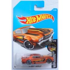 Xe ô tô mô hình tỉ lệ 1:64 Hot Wheels 2017 '70 Chevy Chevelle Night Burnerz 212/365 ( Màu Cam )