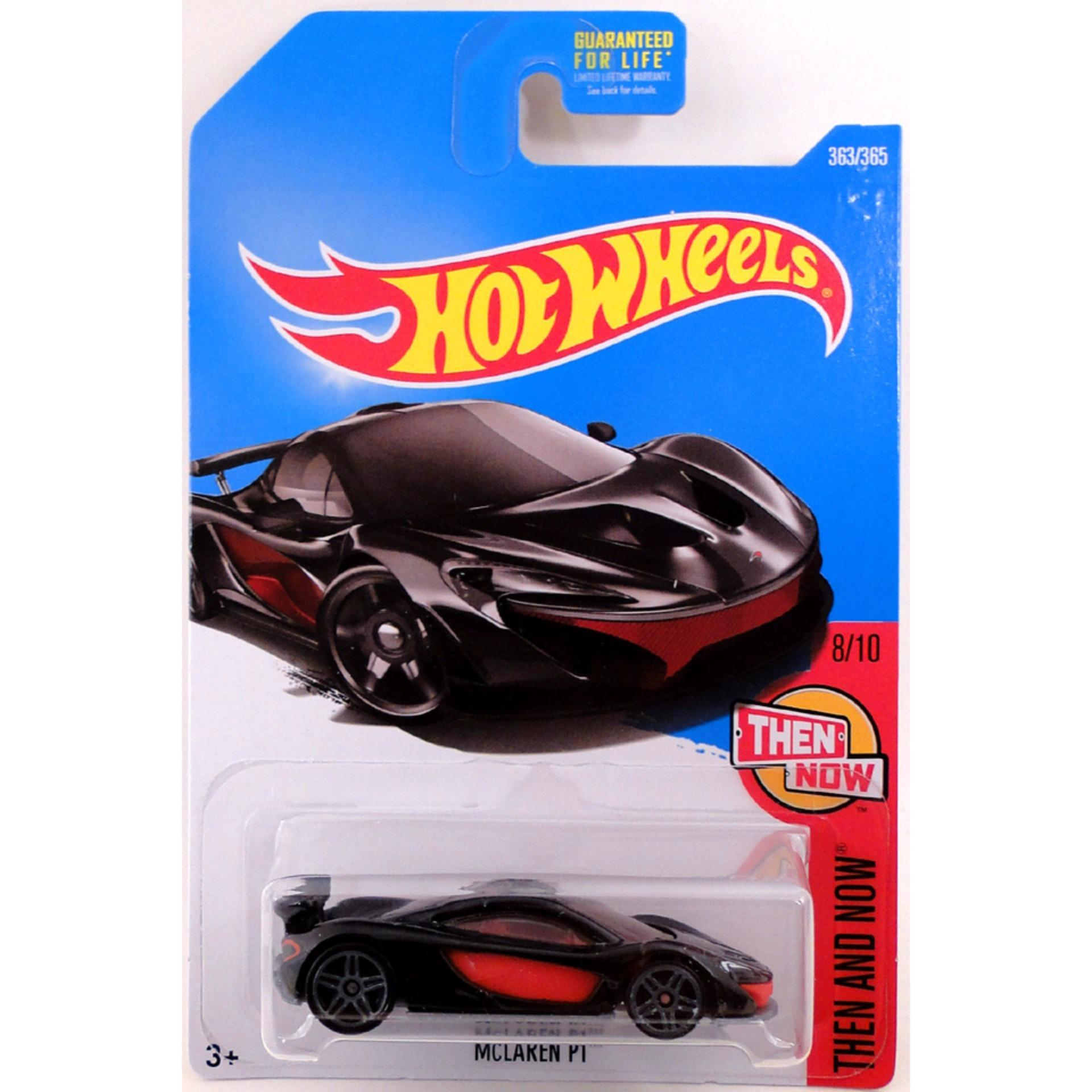 Xe ô tô mô hình tỉ lệ 1:64 Hot Wheels 2018 Mclaren P1 ( Màu Đỏ Đen )