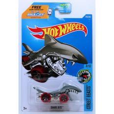 Xe ô tô mô hình tỉ lệ 1:64 Hot Wheels Cá Mập Shark Bite 4/10 ( Màu Xám )
