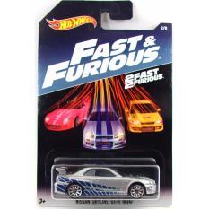 Xe ô tô mô hình tỉ lệ 1:64 Hot Wheels Fast & Furious Nissan Skyline GT-R (R34) – ( Màu Xám )