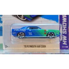 Xe ô tô mô hình tỉ lệ 1:64 Hot Wheels Team Falken '70 Plymouth AAR Cuda ( Màu xanh )