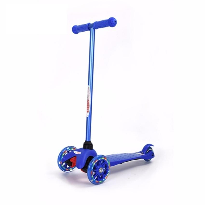 Xe trượt Scooter trẻ em có đèn Chrome Wheels (Xanh dương)