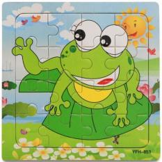 xếp hình bằng gỗ 16 miếng hình con ếch hàng chất lượng