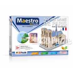 Xếp hình giấy 3D Nhà Thờ Đức Bà Paris